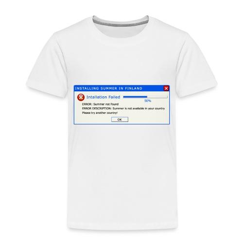Summer Error Message - Lasten premium t-paita