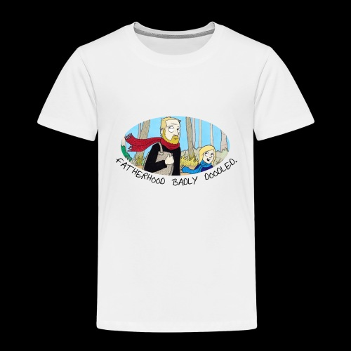 Fatherhood Badly Doodled - Kids' Premium T-Shirt