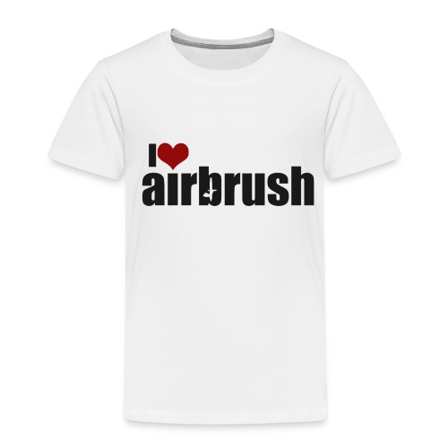I Love airbrush - Kinder Premium T-Shirt