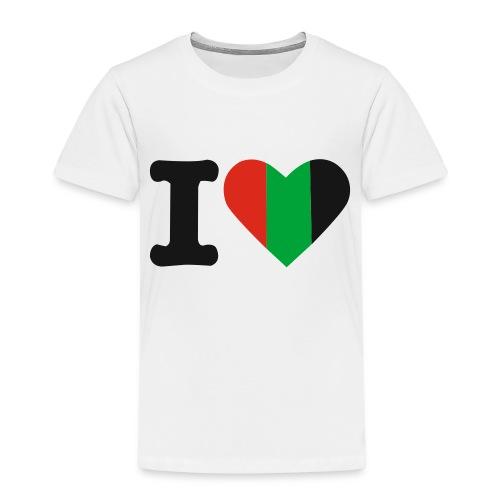 hartjeroodzwartgroen - Kinderen Premium T-shirt