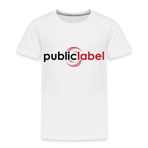 Public Label auf weiss - Kinder Premium T-Shirt
