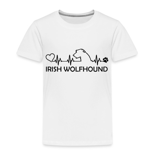 IRISH WOLFHOUND Heartbeat - Kinder Premium T-Shirt