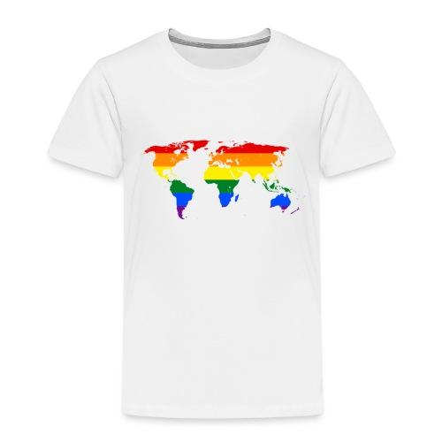rainbow world map (regnbåge världskarta) motiv - Premium-T-shirt barn