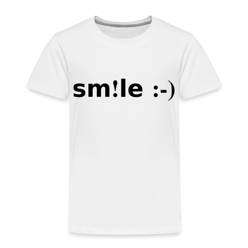 smile - sorridi - Maglietta Premium per bambini