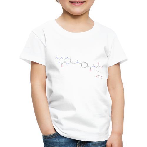 Vitamin M Molecule - Colored Structural Formula - Børne premium T-shirt