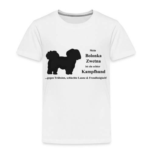 Bolonka Zwetna mit schwarzer Schrift - Kinder Premium T-Shirt