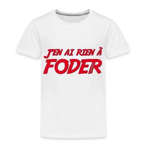 J'en ai rien a foder Rouge - T-shirt Premium Enfant