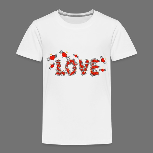 Flying Hearts LOVE - Kids' Premium T-Shirt