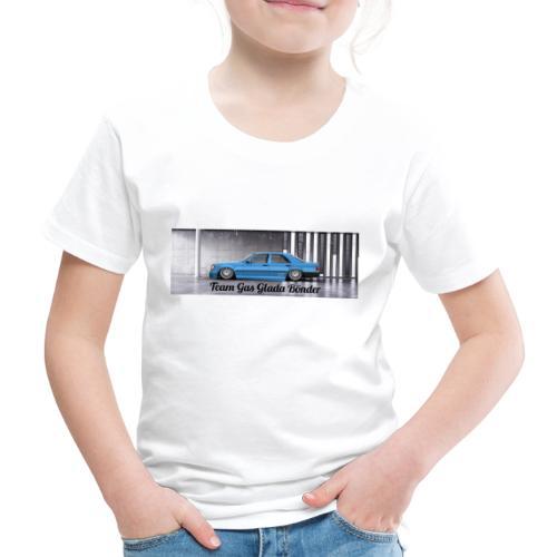 """Mercedes 190E """" Team Gas Glada Bönder"""" - Premium-T-shirt barn"""