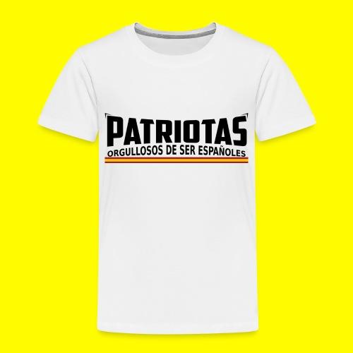Patriotas españoles logo - Camiseta premium niño
