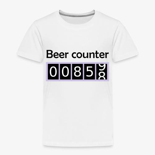 Bier counter / Bier Zähler englisch - Kinder Premium T-Shirt