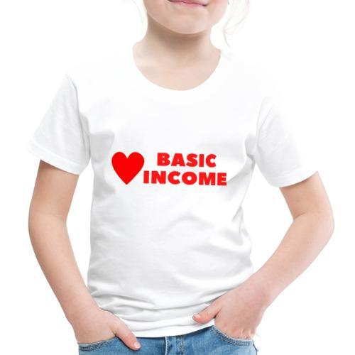 basic income red trans - Kinderen Premium T-shirt