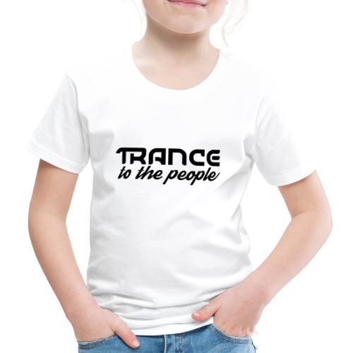 Trance to the People Sort Logo - Børne premium T-shirt