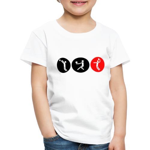Volleyball symbole bicolor - Kinder Premium T-Shirt