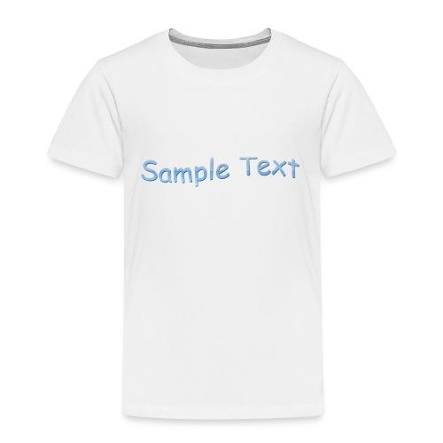 SAMPLE TEXT CAP - Kids' Premium T-Shirt