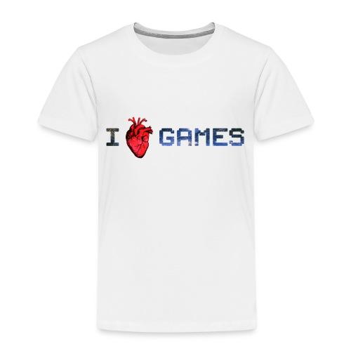i_love_games-jpg - Maglietta Premium per bambini