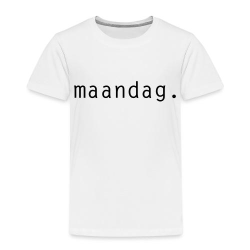 maandag. - Kinderen Premium T-shirt