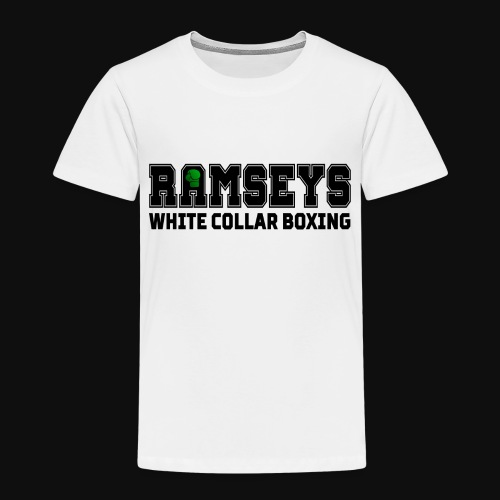 Ramseys White Collar Boxing Black Logo - Kids' Premium T-Shirt