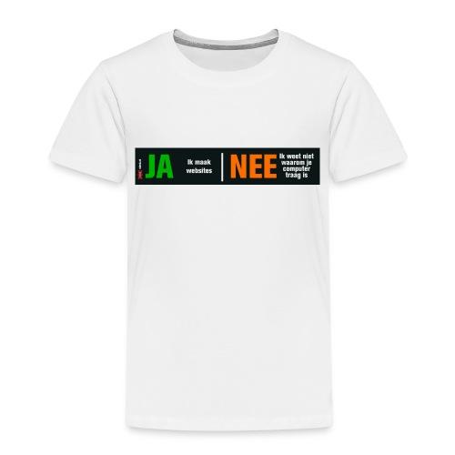 Ja ik maak websites - Kinderen Premium T-shirt