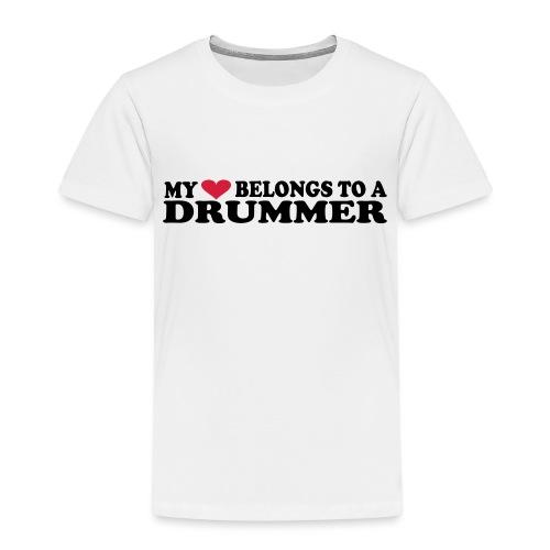 MY HEART BELONGS TO A DRUMMER - Premium T-skjorte for barn