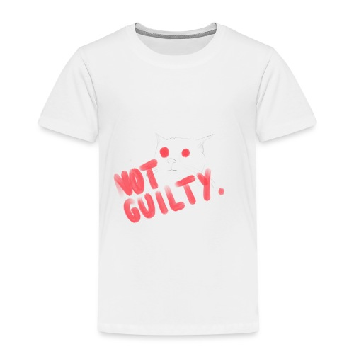 Not Guilty Cat - Kinder Premium T-Shirt