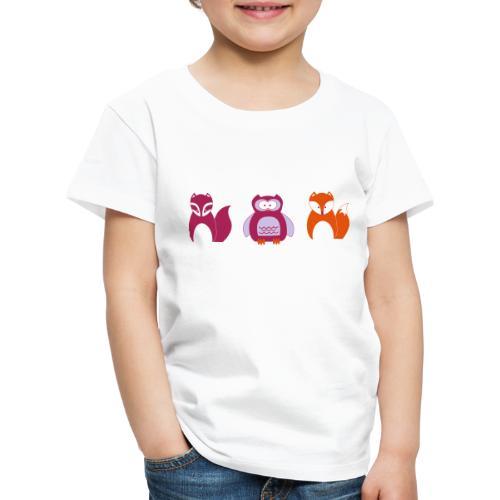 Design für Kleinkinder | Wildtiere im Portrait - Kinder Premium T-Shirt