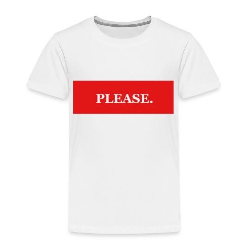 Please - Premium-T-shirt barn