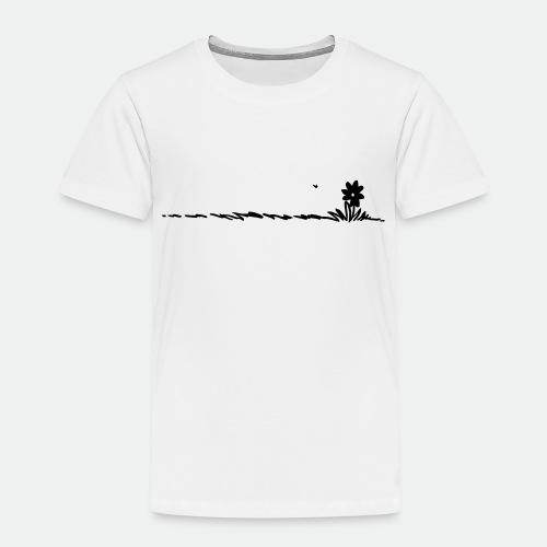 Cartoon Flower on grass - Kids' Premium T-Shirt