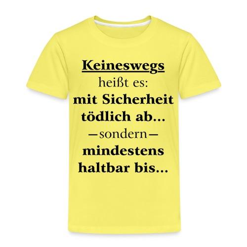 Mindestens haltbar bis - Korrektur - Kinder Premium T-Shirt