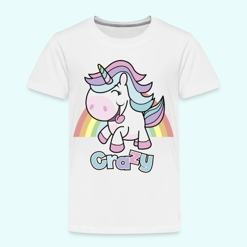 Crazy Unicorn by myLilimals - Kinder Premium T-Shirt