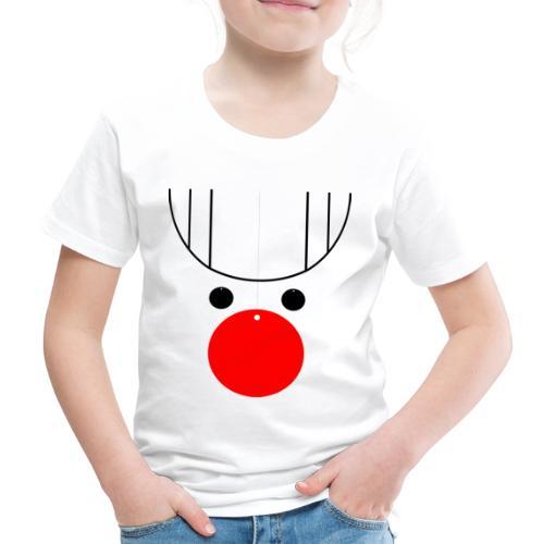 Rentier Kugelnase Weihnachten - Kinder Premium T-Shirt