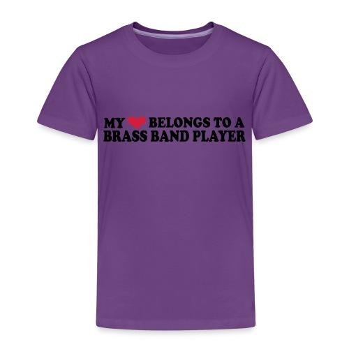 MY HEART BELONGS TO A BRASS BAND PLAYER - Kids' Premium T-Shirt