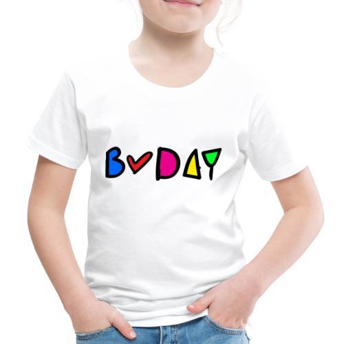 b-day colorful typo - Kids' Premium T-Shirt