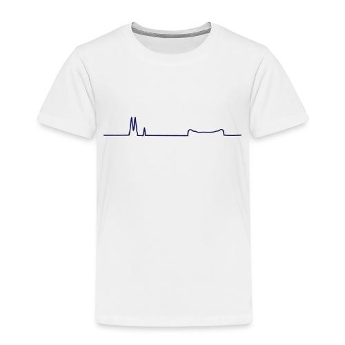Uppsala silhuett - Premium-T-shirt barn