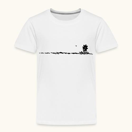 fleur de bande dessinée dans l'herbe avec des insectes - T-shirt Premium Enfant