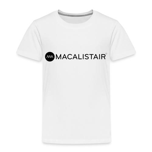 macalistair_logo+tekst - Kinderen Premium T-shirt