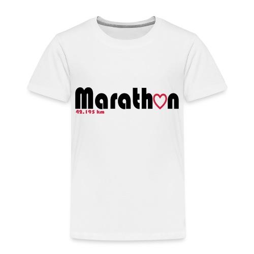 I love marathons - Kinder Premium T-Shirt
