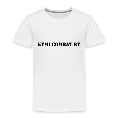kc musta teksti transparent png - Lasten premium t-paita