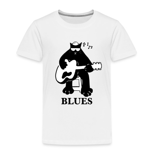 Blues Music Cat Guitar - Kids' Premium T-Shirt