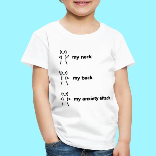 neck back anxiety attack - Kids' Premium T-Shirt