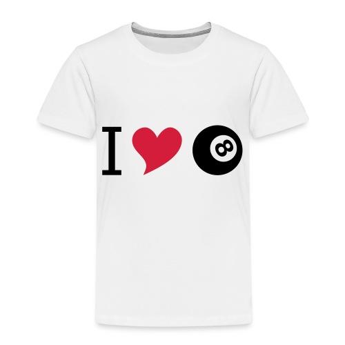 I love billard - Kinder Premium T-Shirt