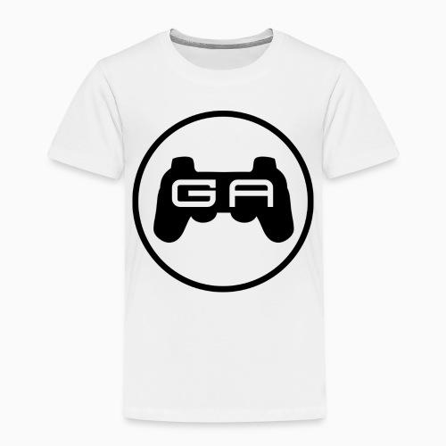 Sort på Hvidt - Børne premium T-shirt