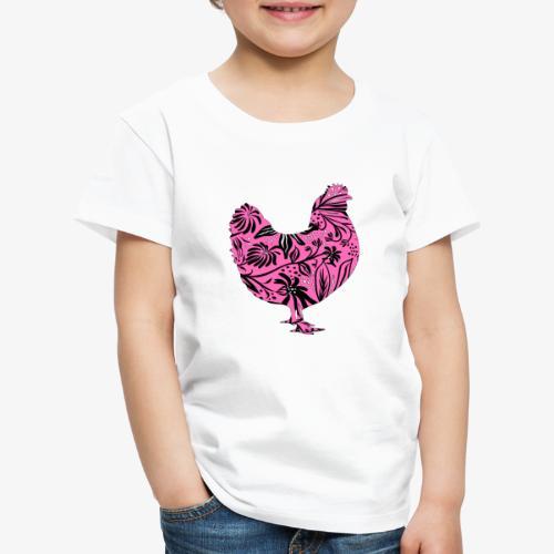 Flower Chicken IV - Lasten premium t-paita