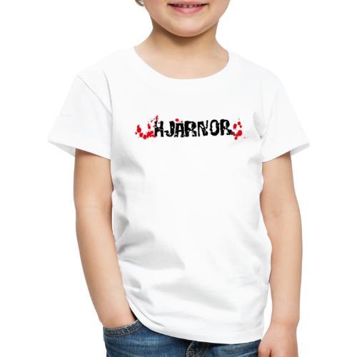 Hjärnor logo svart - Premium-T-shirt barn