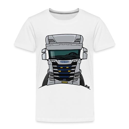0814 S truck grill wit - Kinderen Premium T-shirt