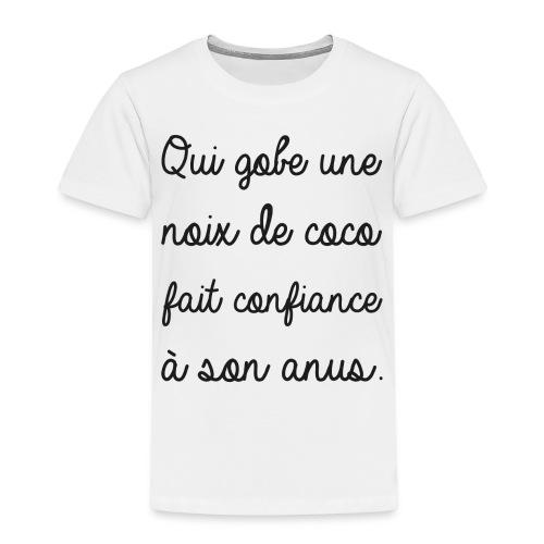 Humour noir et blanc Noix de coco - T-shirt Premium Enfant