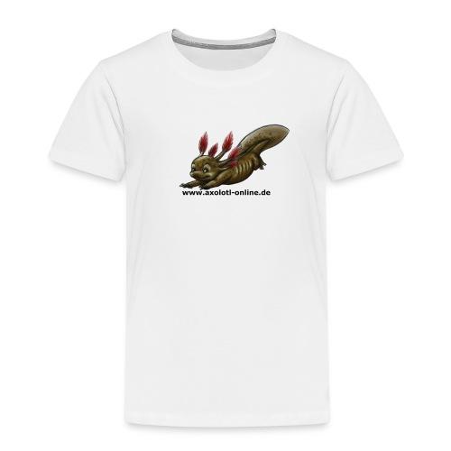 Axolotlshirt Männlein 1.png - Kinder Premium T-Shirt