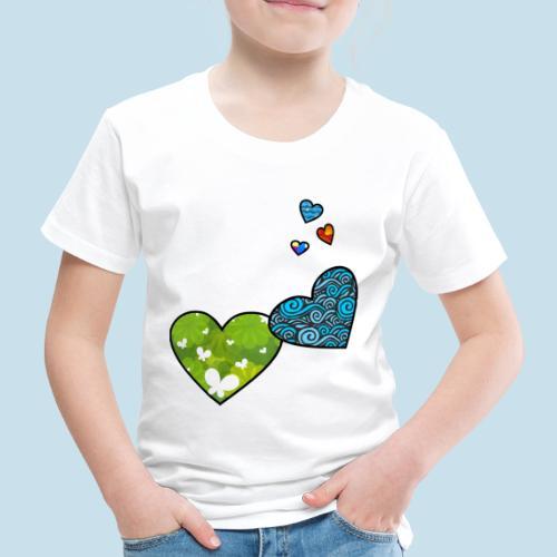 Herzchen - Kinder Premium T-Shirt