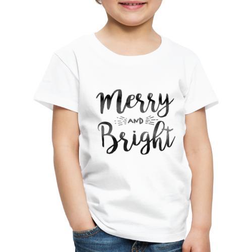 merry bright watercolor - Kinder Premium T-Shirt