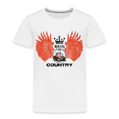 WINGS King of the country zwart rood op wit - Kinderen Premium T-shirt